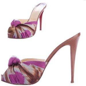 Christian Louboutin Knotted Floral sandals 38.5
